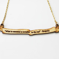 The Little Prince Quote Necklace by iluxo on Etsy