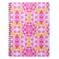 Pink Hippie Mandala Pattern Notebook