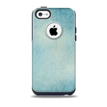 The WaterColor Blue Texture Panel Skin for the iPhone 5c OtterBox Commuter Case