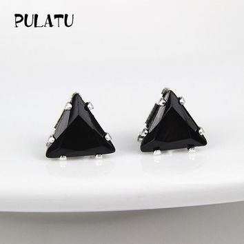 Triangle Zircon Small Stud Earrings