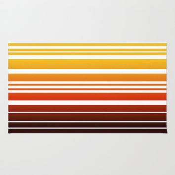 Bay Ombre Stripe: Sunset Area & Throw Rug by Eileen Paulino