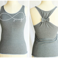 Forever Young Shirt with Bow- Large