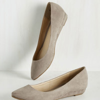 Fierce Thing's First Wedge in Stone | Mod Retro Vintage Flats | ModCloth.com