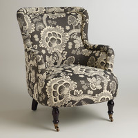 Black and White Floral Reading Chair - World Market
