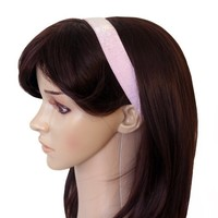 Banded No Slip Headband, Baby Pink Frost, 1 in wide