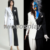 Batman Lady Two-Face Movie Cosplay Costume