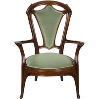 Jacques Gruber French Art Nouveau Armchair