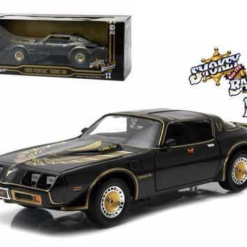 "1980 Pontiac Trans Am Turbo 4.9L ""Smokey And The Bandit 2"" Movie Car 1-18 Diecast Model by Greenlight"