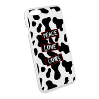 Peace Love Cows Snap On Hard Protective Case for Apple iPhone 6