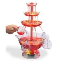 Fun Lighted Party Fountain, 8-cup Beverage Set, 1.5 Gallon Capacity, Ac Adapter Included