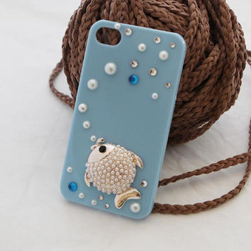 iphone 5 case iphone 4 case iphone 4s case- fish phone case- shipped from USA
