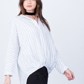 All Lined Up Blouse