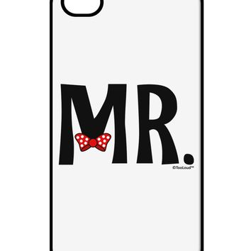 Matching Mr and Mrs Design - Mr Bow Tie iPhone 4 / 4S Case  by TooLoud