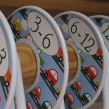 Baby Closet Dividers Boy Cars and Trucks 5 Custom Closet Organizers Baby Boy Nursery Clothes Closet Dividers Baby Shower Assembled For You