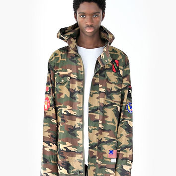 Battalion Woodland Double Layer Camo Patch Jacket