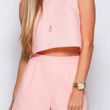 Harbour Island Crop Top | Rose
