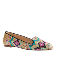 J.Crew Womens Sophie Sequin Loafers