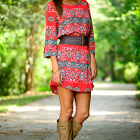 Tell My Love Dress, Red