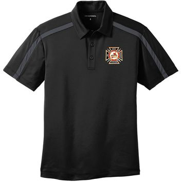 Knights Templar Port Authority Silk Touch Performance Color Block Stripe Polo