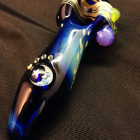 Dichro Image Hand Blown Glass Pipe