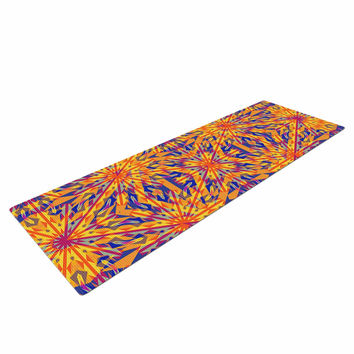 "Miranda Mol ""Azulejo Orange "" Orange Blue Yoga Mat"