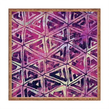 Susanne Kasielke Geometric Folk Triangles Square Tray