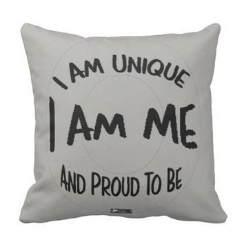 Unique Quote by Kat Worth Throw Pillow