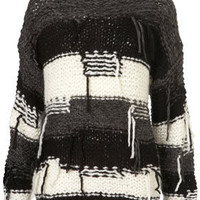 Knitted Shaggy Tassle Jumper - Jumpers