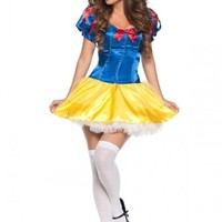 LVSScosplay Women's Halloween Party Cosplay Snow White Costume