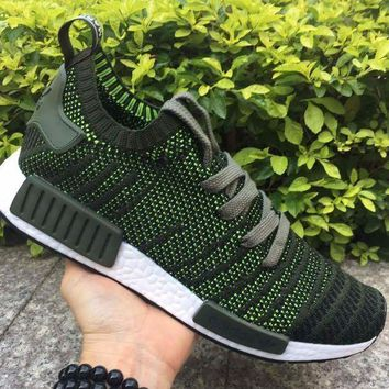 CREYNW6 Adidas NMD R1 Stlt Spring Summer 2018 Line up Green/Black Running Sport Shoes Camouflage Sneakers Casual Shoes