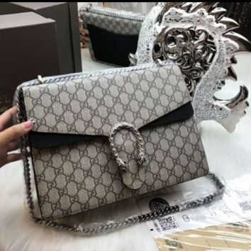 GUCCI print  shoulder bag for woman BLACK COLOR
