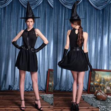 Witch Cosplay Anime Cosplay Apparel Holloween Costume [9211524996]