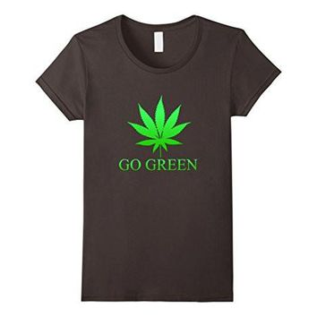 Go Green Weed T Shirt   Vape Nation   Marijuana Leaf 420