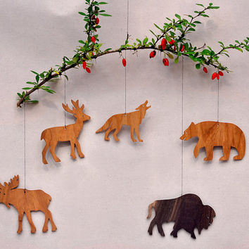 Woodland Animal Ornaments Decorative Wooden Cut Outs Templates Mobiles Party Favors Christmas Tree Decorations