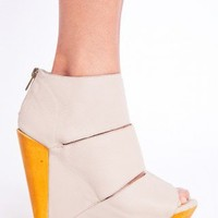 Sliced Platform Wedge - Nude | NASTY GAL | Jeffrey Campbell shoes, Evil Twin, MinkPink, BB Dakota, vintage dresses + more!
