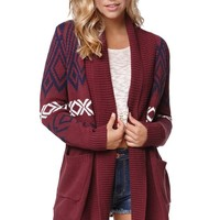 Roxy Shaker Shawl Collar Cardigan - Womens Sweater