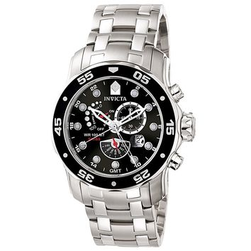 Invicta 6086 Men's Pro Diver SS Power Reserve Alarm Function Watch