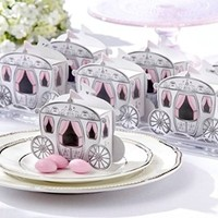 Enchanted Carriage Wedding Favor Boxes 25 Pack