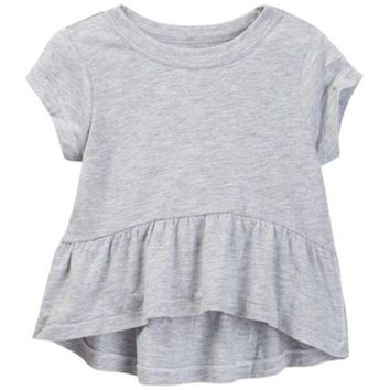 DCCKHB3 HUDSON Jeans | Peplum Hi-Lo Tee (Toddler & Little Girls)