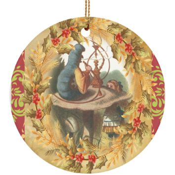 "Alice in Wonderland  Ceramic 3"" Circle Ornament"