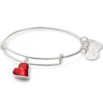 (PRODUCT)RED Heart Of Strength Charm Bangle | Global Fund