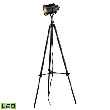 Ethan Adjustable Tripod LED Floor Lamp in Restoration Black