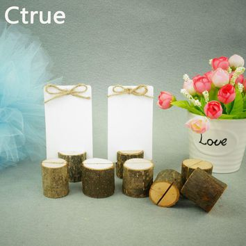 20 PCS Archaize Branch Wedding Wooden Place Card Holder Table Number Stands rustic wedding decoration centerpieces