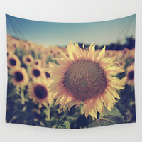 """Sunflowers"" Vintage dreams Wall Tapestry by Guido Montañés"