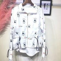 Burberry Triple Archive Logo Print Shell Jacket