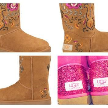 Custom UGG Boots made with Swarovski Juliette UGGs Free: Shipping, Repair Kit, Cleanin