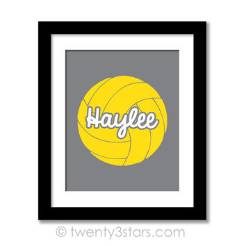 Volleyball Name Wall Art - Choose Any Colors - twenty3stars