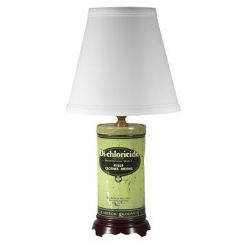 Vintage Rustic Small Green Tin Lamp