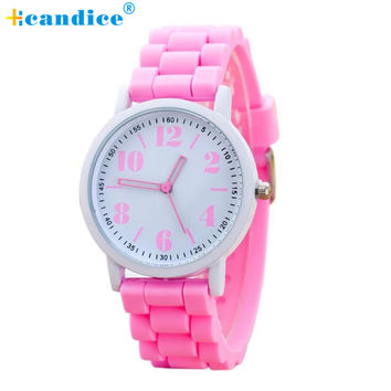 2017 New Fashion Womens Silicone Motion Quartz Watches For Woman Watches Lady Girl Watch