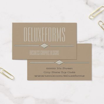Ecru White Diamond Line Business Card